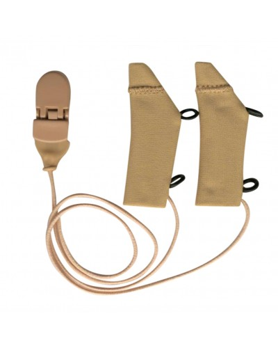 FM System, Beige, Binaural (dual), with cord, for eyeglasses