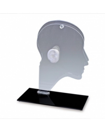 Acrylic Head Display with Ear