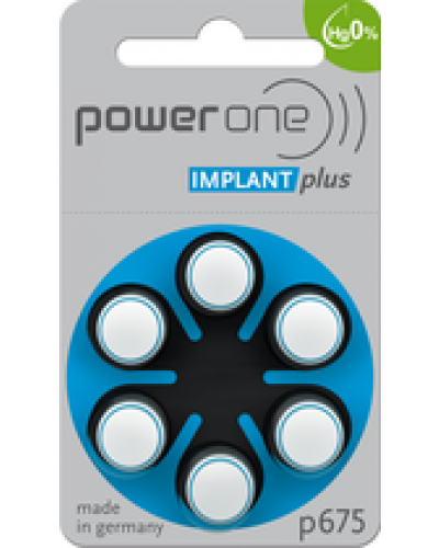 Power One Mercury Free Batteries - Implant Plus (60 pc)
