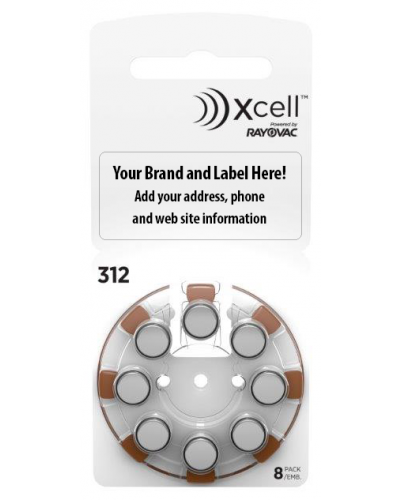 Xcell Private Label Batteries Size 312