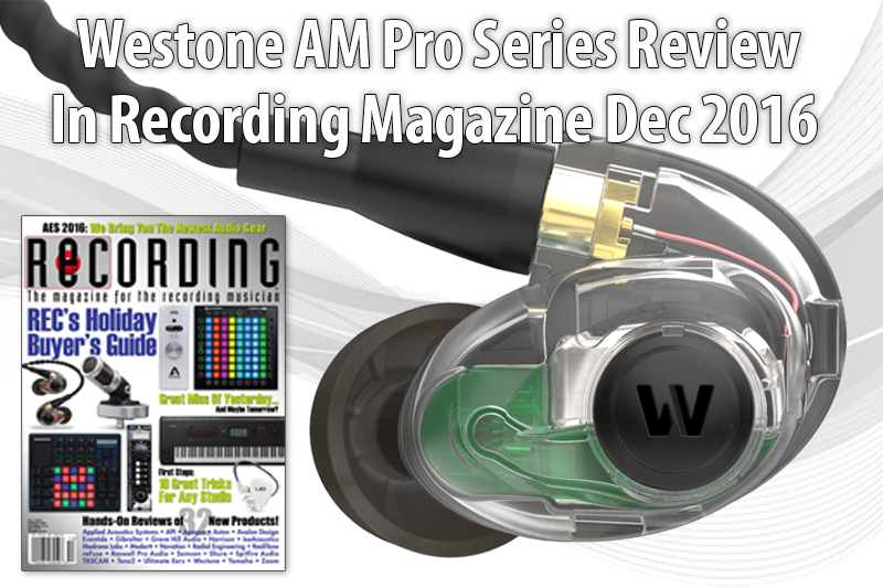 AM Pro Series Review by Recording Magazine Dec 2016