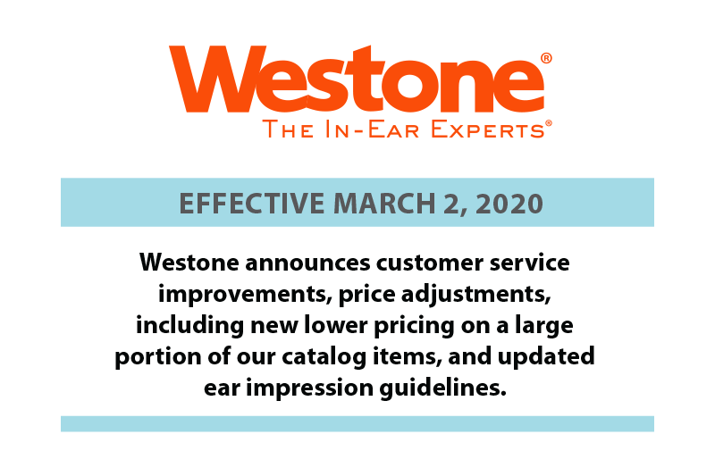 Westone Price & Policy Announcement
