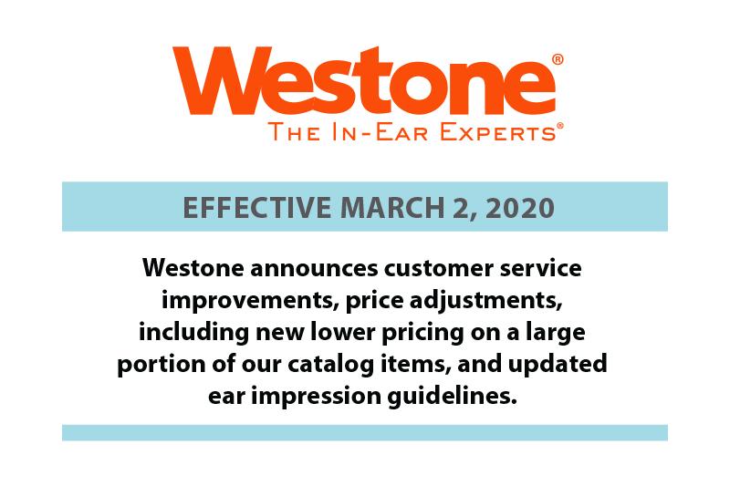 Westone Announces New Changes