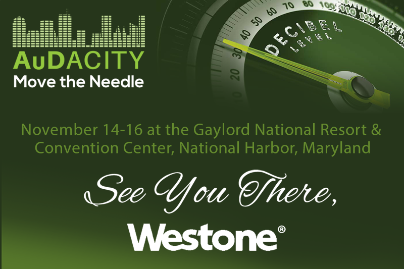 Visit us at AuDacity 2019, November 14-16 at the Gaylord National Resort & Convention Center, National Harbor, Maryland