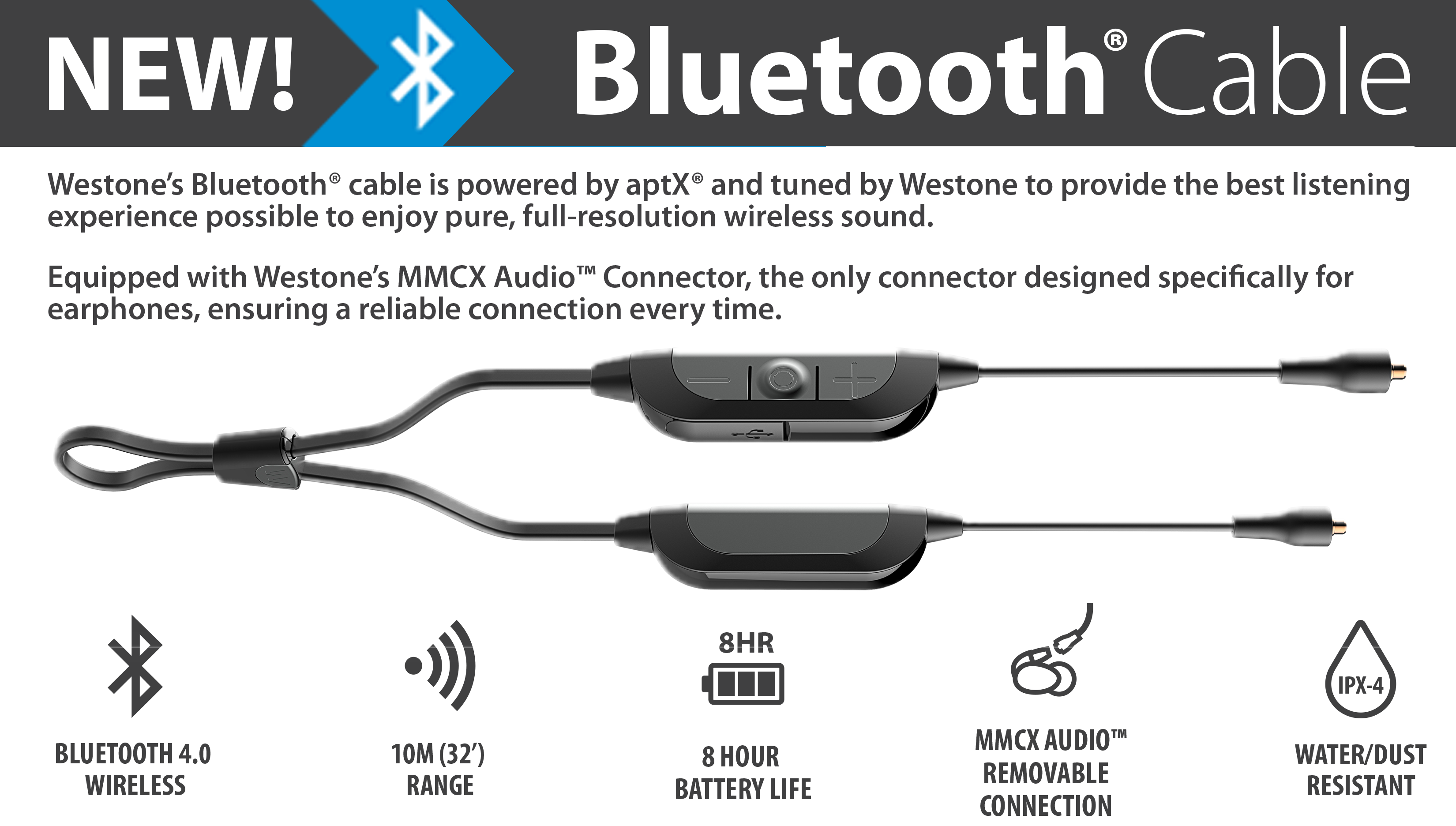 Westone Bluetooth Cable